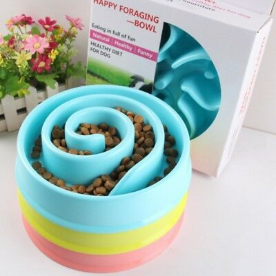 Pet Dog Cat Interactive Slow Feeder Bowl Maze Feeder Healthy Gulp Feed Dish US
