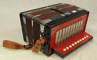 Serenelli Castelfidardo Melodeon Button Accordion + Case - Made in Italy Vintage