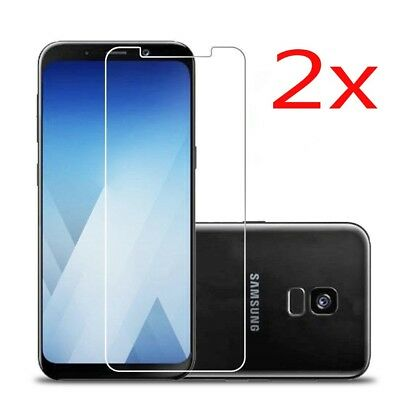 2x Tempered Glass Full Screen Protector Film Cover For Samsung Galaxy A6 A8 2018