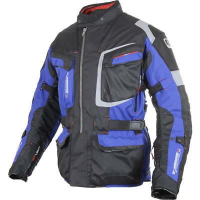 Oxford Stockholm- Winter Motorcycle Motorbike Waterproof Textile Jacket - Blue