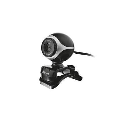 Trust Exis Webcam with Built in Microphone (Black/Silver)