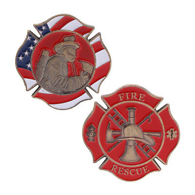 Firefighting Commemorative Coin American New Souvenir Alloy Souvenir Gift W7F6P
