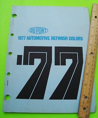 1977 DUPONT AUTO PAINT COLOR CHIPS BOOK All Makes AMC Ford GM Chrysler 170 CHIPS