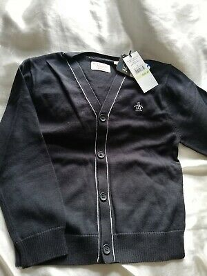Original Penguin Kids Jumper Cardigan Age 4 Nearly Black New Tagged CLEARANCE