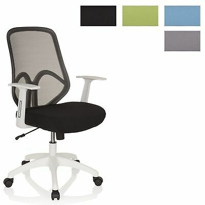 Design Office Chair Swivel Chair AMIKO II white Mesh Back Fabric Seat hjh OFFICE