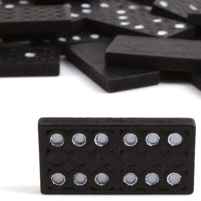 28Pc BLACK DOMINO SET Traditional Fun Classic Board Game Kids Childrens Toy