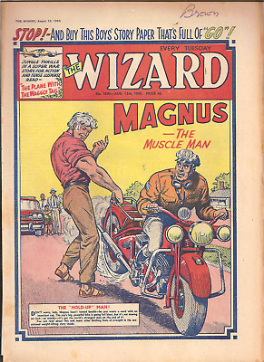 THE WIZARD No.1800,AUG.13,1960:PUBLISHER D.C.THOMSON,24 PAGES