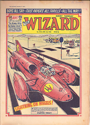 THE WIZARD No.1816,DEC.3rd,1960:PUBLISHER D.C.THOMSON,28 PAGES