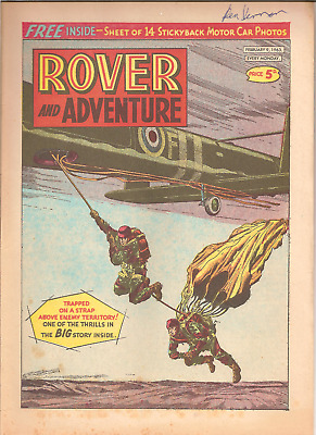 ROVER AND ADVENTURE,FEB.9th,1963:CRESTS OF CAR MAKERS BACK PAGE,NO FREE GIFT