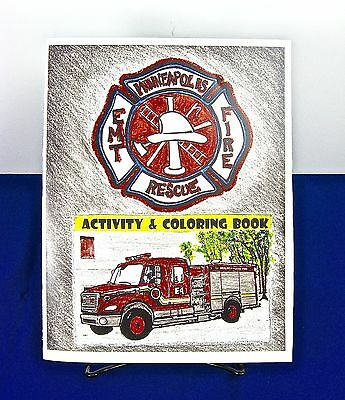 Children's Instructive Coloring Book from Minneapolis Fire Rescue