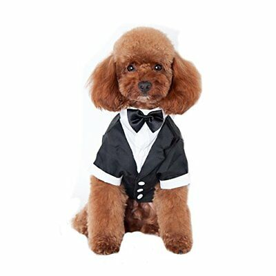 Keysui Pet Dog Clothes Solidcolored Indossare Bretelle Business Suit Adatto Per
