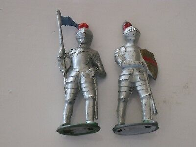 Barclay Vintage Lead Medieval Knight Figures; Lot Of 2, Train Layout