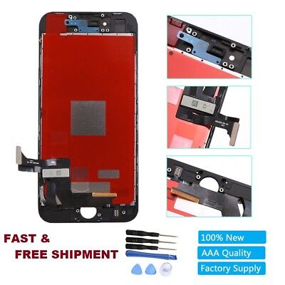 New Black LCD Touch Screen Digitizer Assembly Replacement For iPhone 8 8G 4.7""