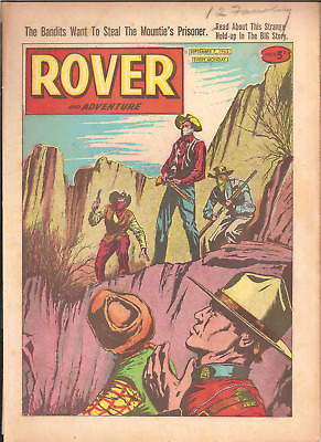 ROVER AND ADVENTURE,SEPT. 7th,1963:PUBLISHER D.C.THOMSON,32 PAGES