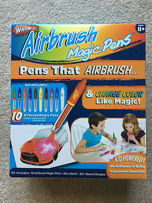 Wham-O Airbrush Magic Pens As Seen On TV Non-Toxic NEW