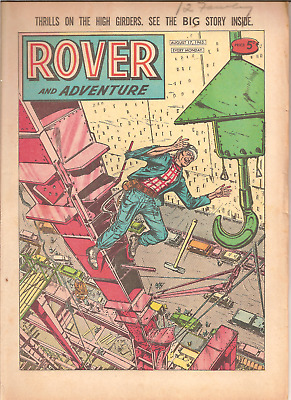 ROVER AND ADVENTURE,AUG. 17th,1963:D.C.THOMSON,32 PAGES:CAR CLUB BADGES BACKPAGE
