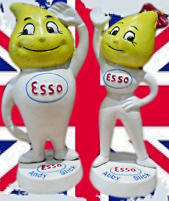 Cast Iron Pair of Esso Money Banks English 'andy & abby slick'