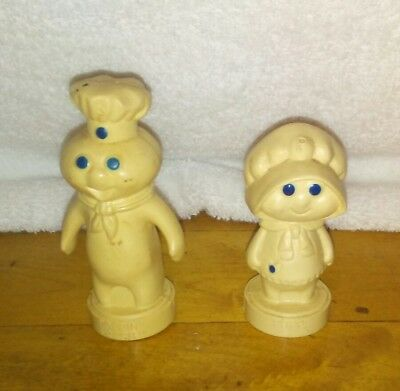 Vintage 1974 Pillsbury Doughboy Poppin Fresh Adv Salt and Pepper Shaker Set