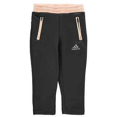 adidas Comfi Jogging Pants Childrens Girls Fleece Bottoms Trousers Lightweight
