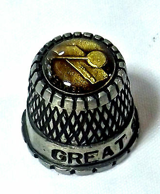 GREAT SMOKY MTNS pewter thimble approx 3/4'' tall