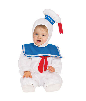 Toddler Stay Puft Marshmallow Man EZ On Romper Costume