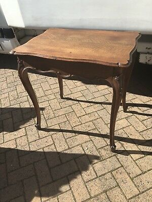 Carved Oak Rococo French Antique Table