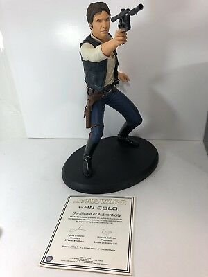 Attakus Star Wars Han Solo Statue 15 Inches Limited Only 1500 Worldwide