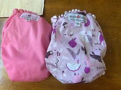Applecheeks Diapers Cloth All In One Pocket Lavender Pink Size 2 Girls Birds New