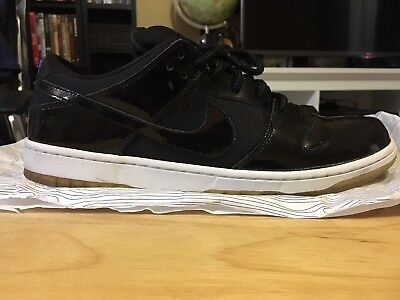 new arrival 5a0e2 0441d NIKE DUNK LOW Pro SB SPACE JAM Sz 13 PATENT BLACK/WHITE Royal Blue