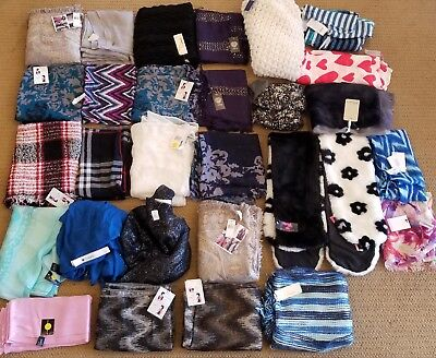 50 Piece Wholesale Lot of NEW Scarves