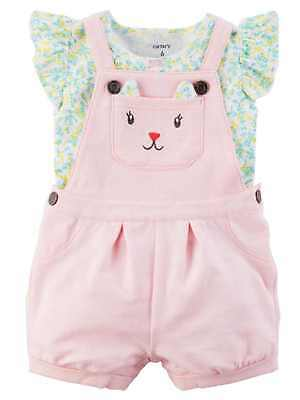 d52c92593 CARTERS INFANT GIRLS Gray   Purple Baby Outfit Shortall Overalls ...