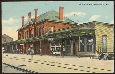 1912 Picture Post Card, Frisco Station, Springfield, Mo.