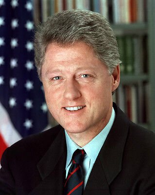 42nd US President BILL CLINTON Glossy 8x10 Photo Poster Political Print