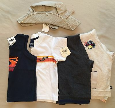 5 Pc Lot, Boys Shirts,Sweatshirts&Hat, Old Navy, Gap &More, Sz 12-24 Month, NWT