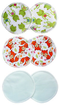 Reusable BREAST PADS Nursing Maternity NEW Organic 1, 3, 6 Pairs