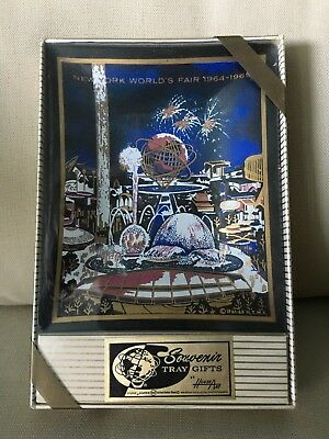 New York World's Fair 1964-1965 Souvenir  Glass Tray by Houze Art  MINT IN BOX