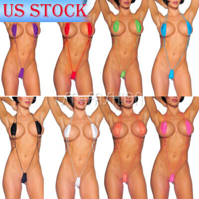 Sexy Women Lady Lingerie Micro Brief Mini Bikini Tiny G String Swimwear Monokini