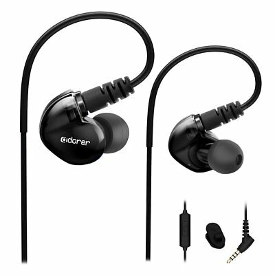 Adorer Sport Earbuds RX6 Noise Isolating In-Ear Headphones with Microphone and