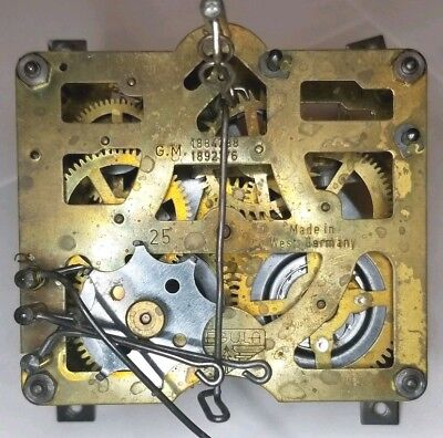 Regula 25 1 day Cuckoo Clock Movement Antique some wear for repair parts CM1193