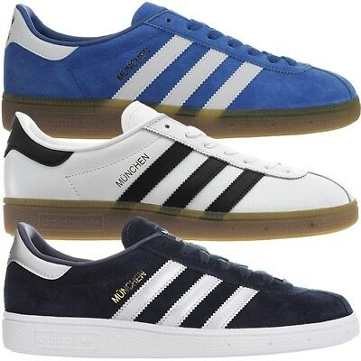 huge discount 452dd 04318 Adidas München mens low-top sneakers leather casual shoes trainers NEW