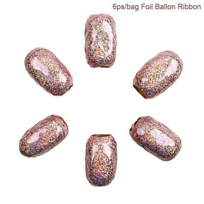 Rose Gold 6Pcs Foil Balloon Ribbon Wedding Birthday Party Decor Wrapping Tape