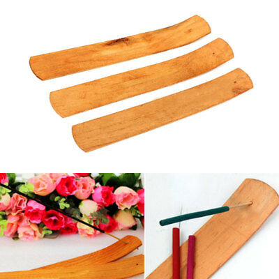1pc Natural Plain Wood Wooden Incense Stick Ash Catcher Burner Holder10 Hot X9Y4