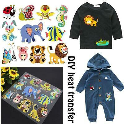 Cartoon Jungle Animal Clothes Patches Stickers for Iron-on DIY Clothing Decor