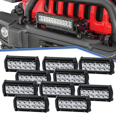 10x 7inch 36W LED Driving Lights SPOT Beam OffRoad Light Fit Truck utv Jeep Boat