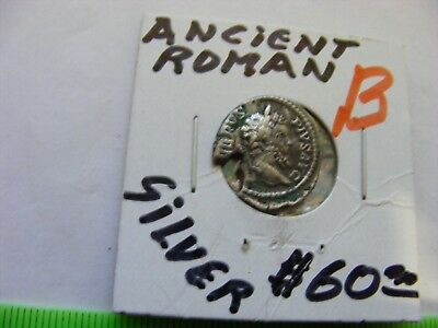 Ancient Roman SILVER Coin(B)...nice condition...but wedge missing.