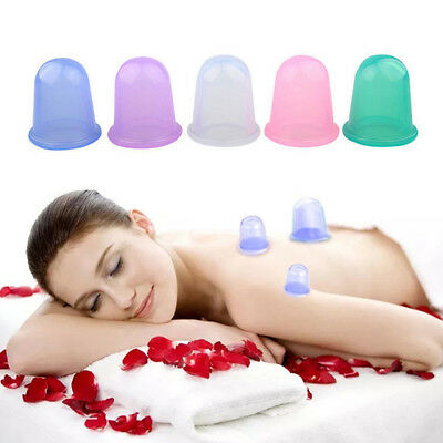 Silicone Massage Cup Anti Cellulite Vacuum Cupping Cups Body Facial Therapy Tool
