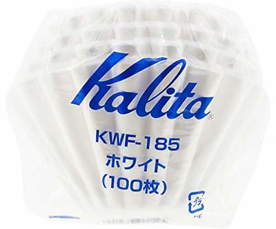 Kalita KWF-185 Wave Drip Coffee Filter White for 2-4 Servings, 100-Filter F/S