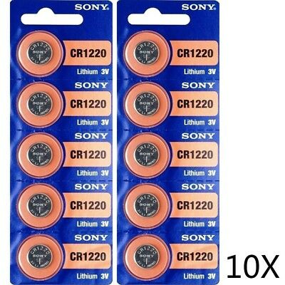 SONY CR 1220 LITHIUM BATTERIES (10 piece) 3V Watch USA Seller Exp:2027