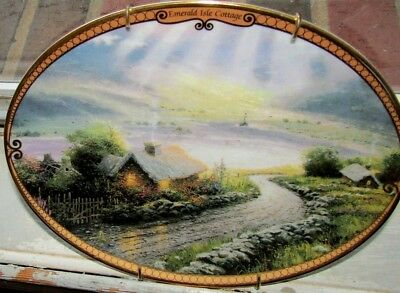 Thomas Kinkade Scenes of Serenity Plate EMERALD ISLE COTTAGE #8660A 2nd Issue