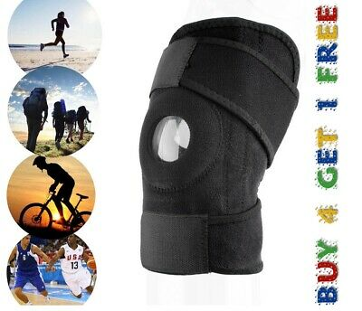 Black Neoprene Adjustable Open YC Knee Patella Tendon Support Brace Sleeve 'Knee